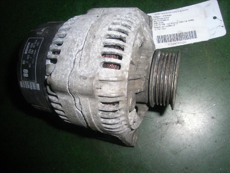 Lichtmaschine ALFA ROMEO 146 (930) E3289 km 0124225068