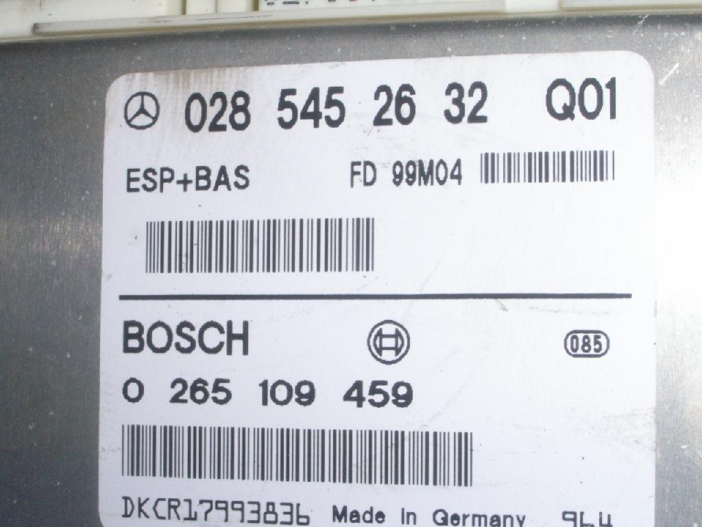 Steuergerät ESP 0285452632 MERCEDES-BENZ A-KLASSE W168 A 160