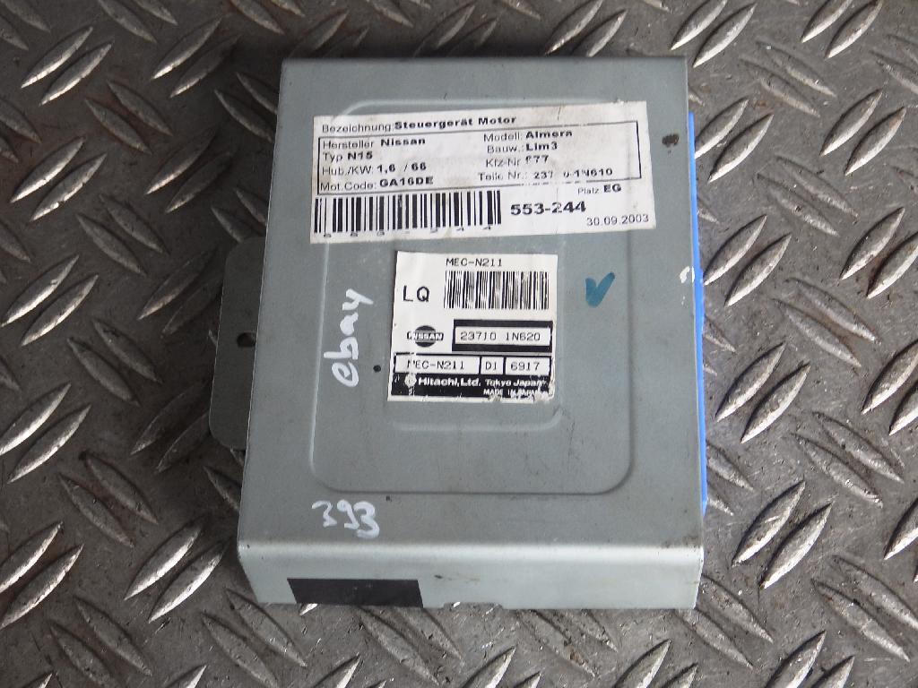 Steuergerät Motor NISSAN Almera I (N15) 1.6 66 kW 90 PS (09.1995-07.2000) 237101N620
