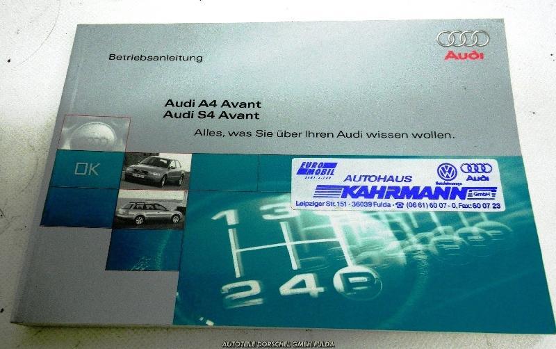 Bedienungsanleitung AUDI A4 Avant (8D, B5) 2.5 TDI 110 kW 150 PS (09.1997-09.2001)