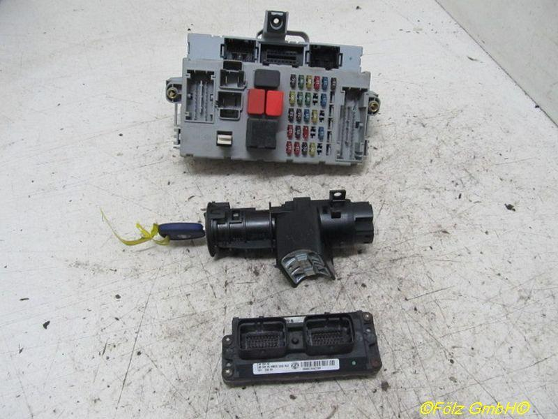 Steuergerät Motor Satz mit Lesespule,Transponder und Sicherungskasten FIAT PUNTO (188) 1.2 60 44 KW IAW59FM3