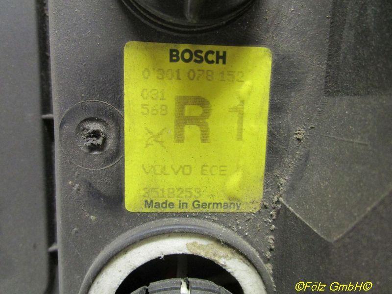 Hauptscheinwerfer rechts Kappe fehlt VOLVO 740 (744) 2.3 111 KW 0301078152 Bild 2