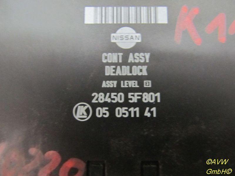 Steuergerät Zentralverriegelung NISSAN MICRA II (K11) 1.0I 16V 40 KW 284505F801 Bild 2