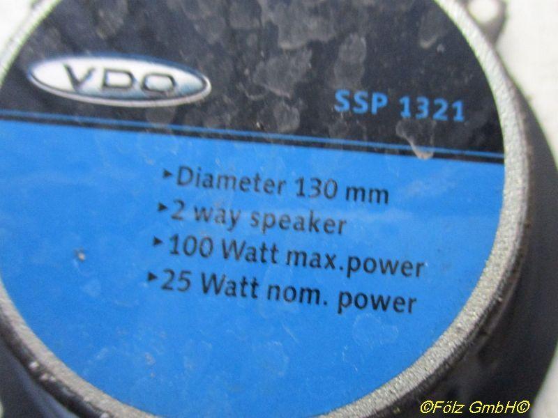 Lautsprecher Durchmesser 130mm 100 WATT 2-Wege 2 Stück FORD TRANSIT CONNECT (P65_, P70_, P80_) 1.8 T 66 KW SSP1321 Bild 3