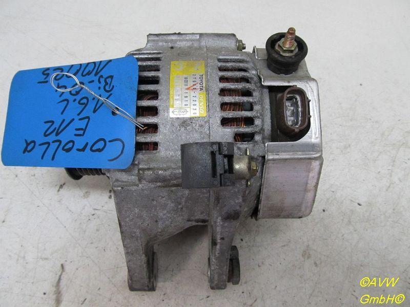 Lichtmaschine Generator  TOYOTA COROLLA (ZZE12_, NDE12_, ZDE12_) 1.6 VVT 81 KW 2706022030