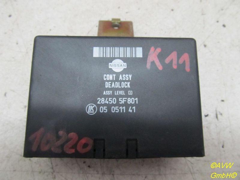 Steuergerät Zentralverriegelung NISSAN MICRA II (K11) 1.0I 16V 40 KW 284505F801 Bild 1