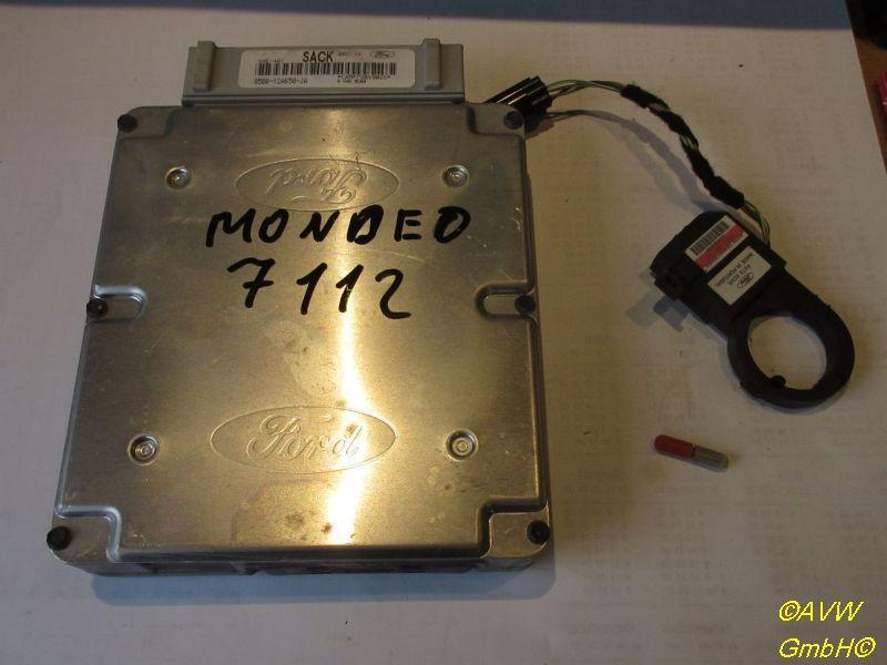 Steuergerät Motor Satz mit Lesespule und Transponder FORD MONDEO I KOMBI (BNP) 1.8 I 16V 85 KW 95BB12A650JA