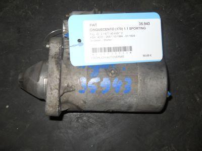 Anlasser / Starter  FIAT CINQUECENTO (170) 1.1 SPORTING (170AH) 40 KW 63101002