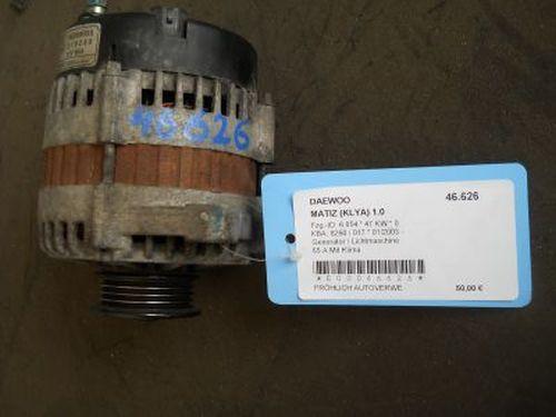 Generator / Lichtmaschine 65 A Mit Klima DAEWOO MATIZ (KLYA) 1.0 47 KW 96289030219235