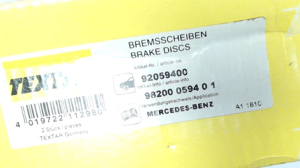 Bremsscheiben 1x Satz Mercedes-benz C-klasse  92059400