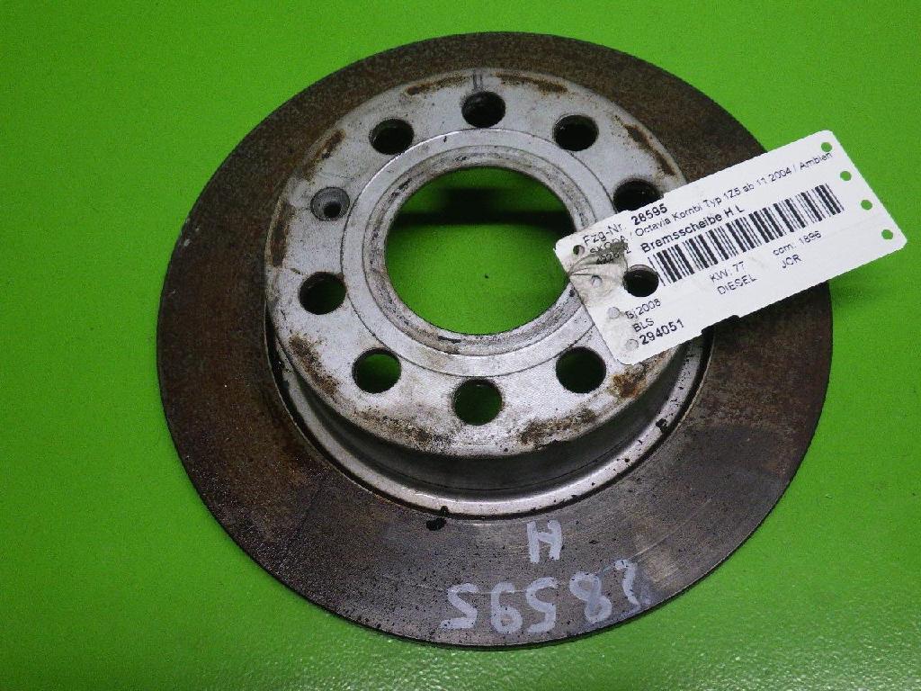 Bremsscheibe hinten links SKODA OCTAVIA II Combi (1Z5) 1.9 TDI 5Q0615601F