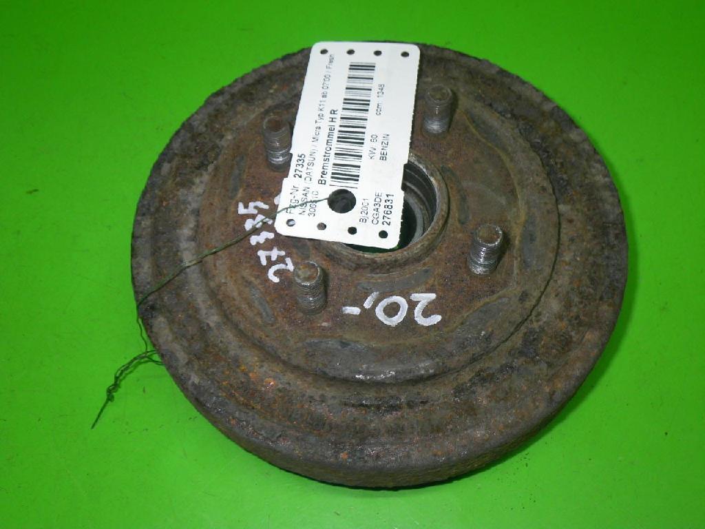 Bremstrommel hinten rechts NISSAN (DATSUN) MICRA II (K11) 1.4 i 16V 432065F013