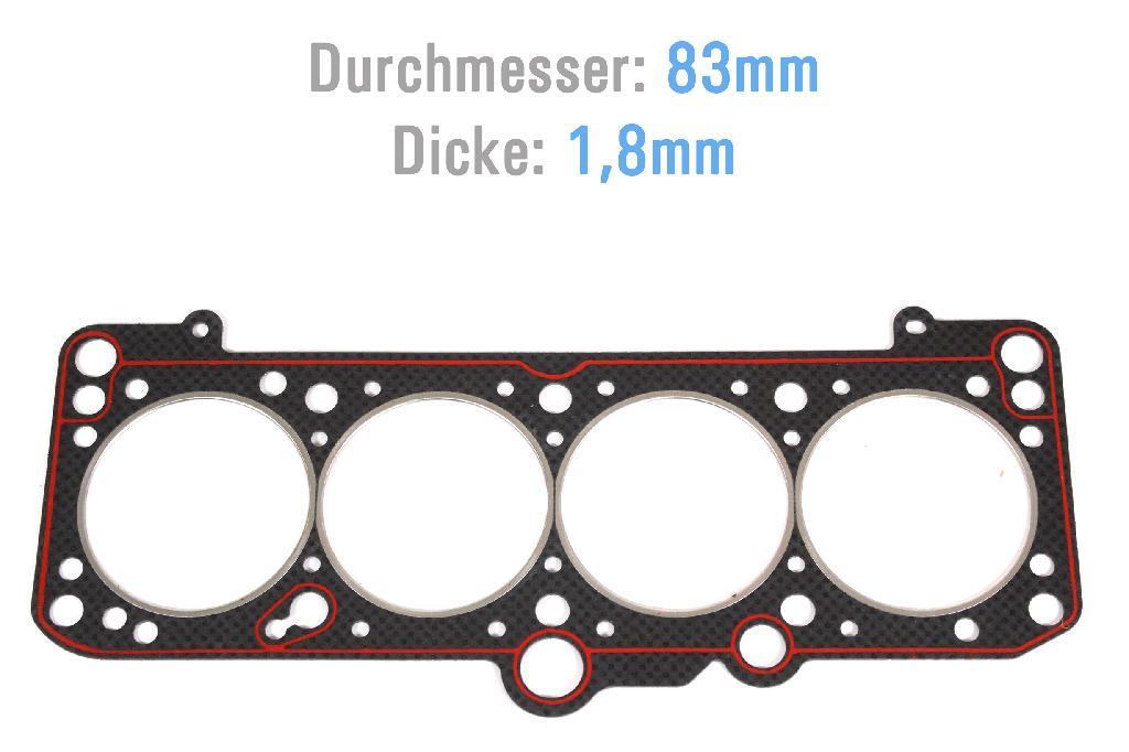 Zylinderkopfdichtung ZKD VW Audi 1,8 AAM ABS ADZ 026103383K NEU