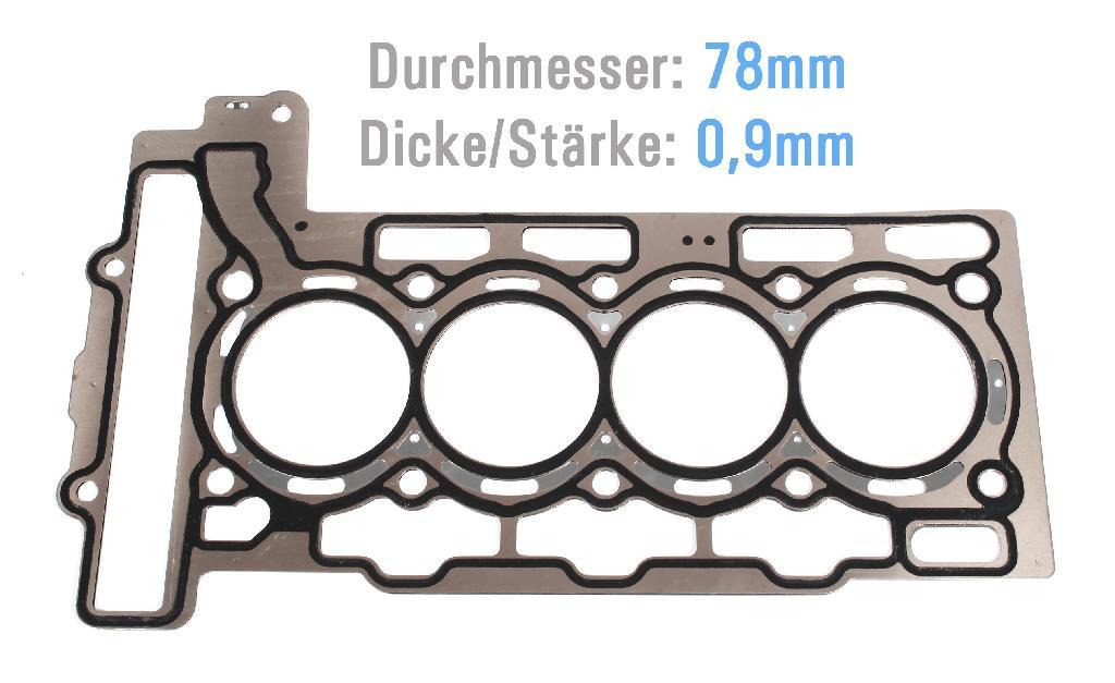 Zylinderkopfdichtung ZKD Peugeot Citroen C4 1,6 THP 5F4 5FA 5FC NEU