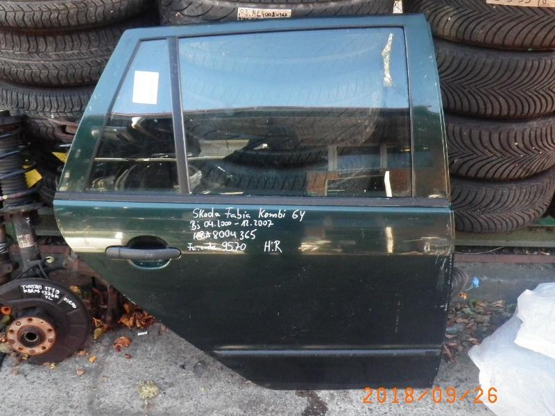 Tür rechts hinten SKODA Fabia Combi (6Y) 1.9 TDI 74 kW 101 PS (04.2000-12.2007)