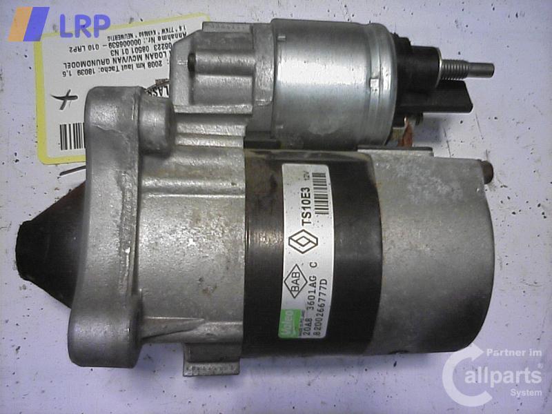 Dacia Logan BJ 2008 Anlasser 8200266777D 20A83601AG VALEO Starter 1.6 77KW