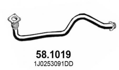 Abgasrohr vorne ASSO 58.1019 Bild 1