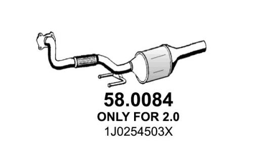 Katalysator vorne ASSO 58.0084 Bild 1
