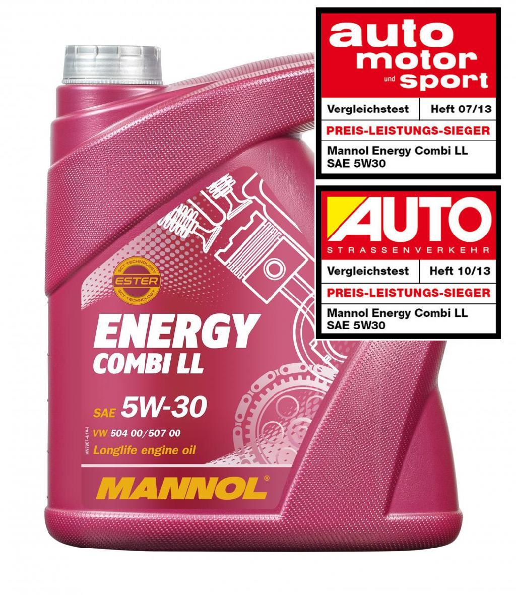 Motoröl MANNOL MN7907-5 Energy Combi LL 5W-30 5-Liter Longlife Benzin Diesel Bild 1