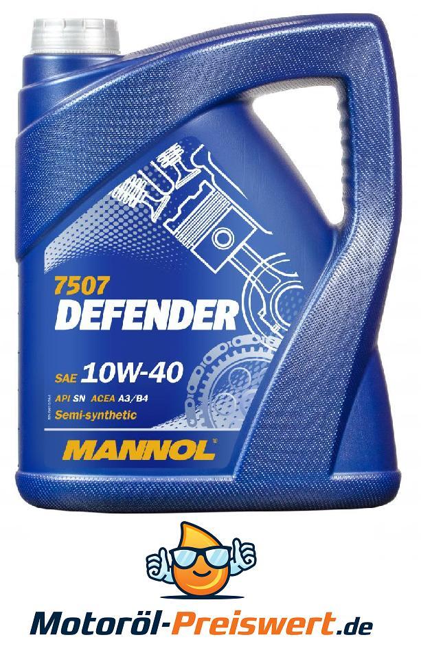 Motoröl MANNOL MN7507-5 Defender 10W-40 5-Liter Benzin Diesel Bild 1