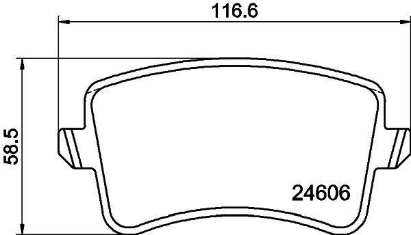Bremsbelagsatz, Scheibenbremse HELLA 8DB 355 025-381