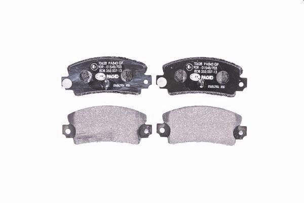 Bremsbelagsatz, Scheibenbremse HELLA 8DB 355 007-131