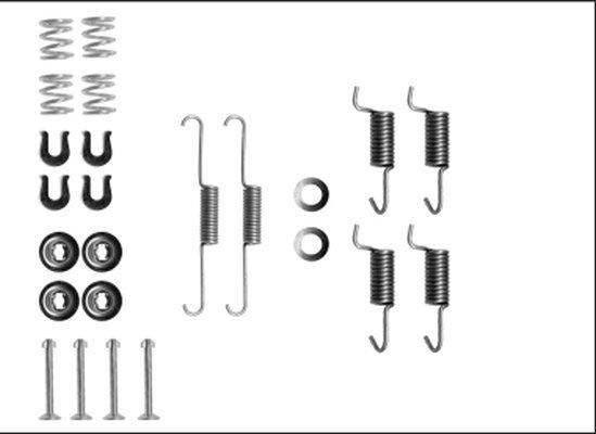 Zubehörsatz, Feststellbremsbacken HELLA 8DZ 355 205-911