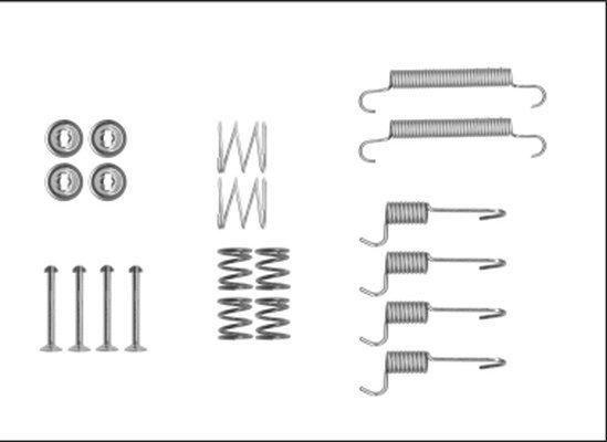 Zubehörsatz, Feststellbremsbacken HELLA 8DZ 355 205-931