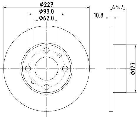 Bremsscheibe HELLA 8DD 355 100-361