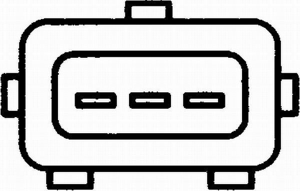 Sensor, Drosselklappenstellung HELLA 6PX 008 476-341 Bild 2