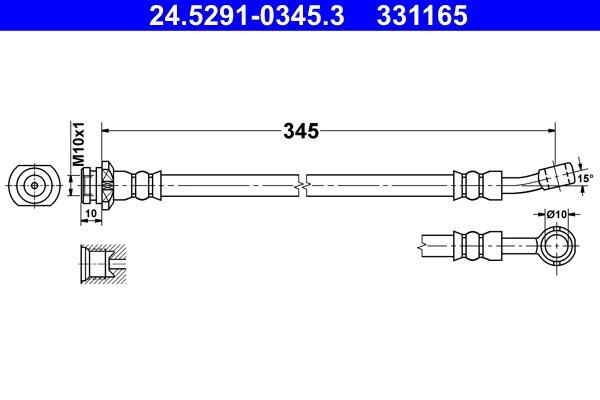 Bremsschlauch ATE 24.5291-0345.3