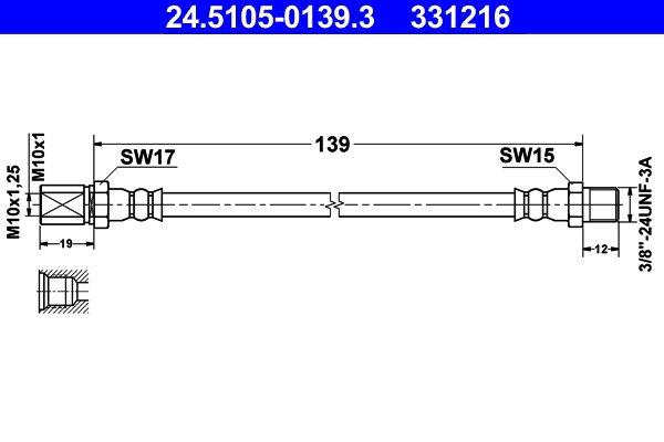 Bremsschlauch ATE 24.5105-0139.3