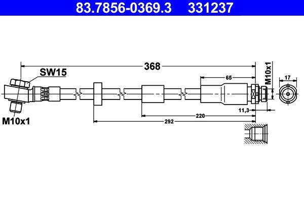 Bremsschlauch ATE 83.7856-0369.3