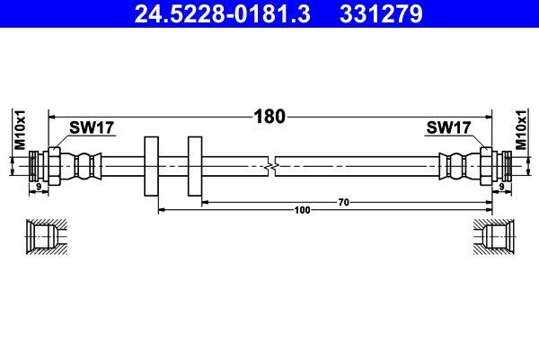 Bremsschlauch ATE 24.5228-0181.3