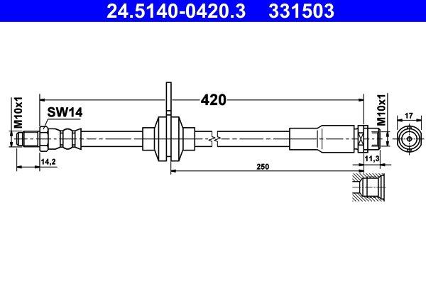 Bremsschlauch ATE 24.5140-0420.3