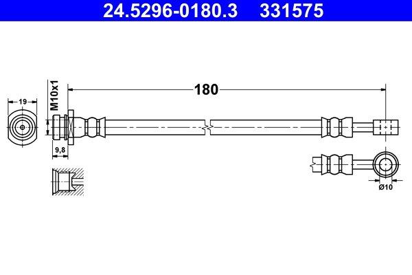Bremsschlauch ATE 24.5296-0180.3