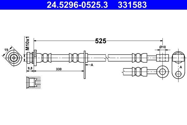 Bremsschlauch ATE 24.5296-0525.3
