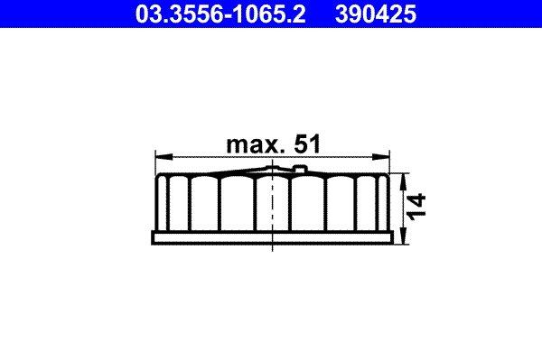 Verschluss, Bremsflüssigkeitsbehälter ATE 03.3556-1065.2