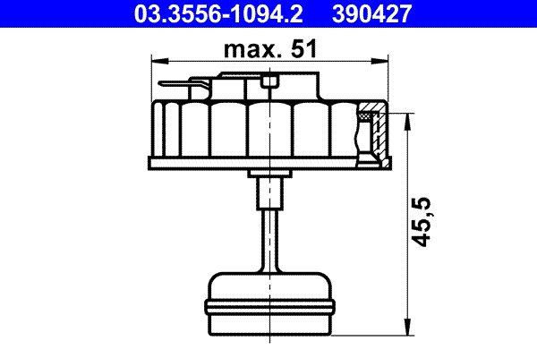 Verschluss, Bremsflüssigkeitsbehälter ATE 03.3556-1094.2