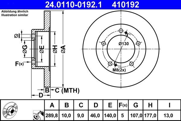 Bremsscheibe ATE 24.0110-0192.1