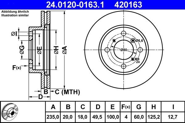 Bremsscheibe ATE 24.0120-0163.1
