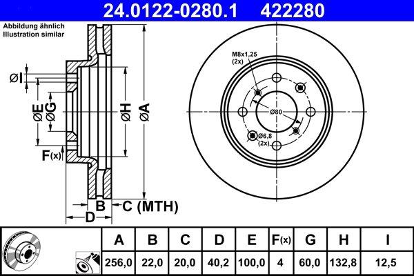 Bremsscheibe ATE 24.0122-0280.1