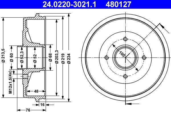 1 Stück DELPHI BF427 Bremstrommel