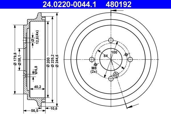 Bremstrommel ATE 24.0220-0044.1