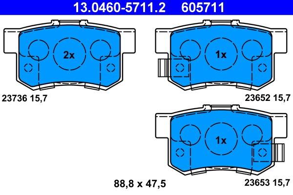 Bremsbelagsatz, Scheibenbremse ATE 13.0460-5711.2