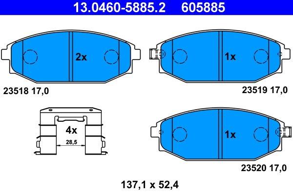 Bremsbelagsatz, Scheibenbremse ATE 13.0460-5885.2