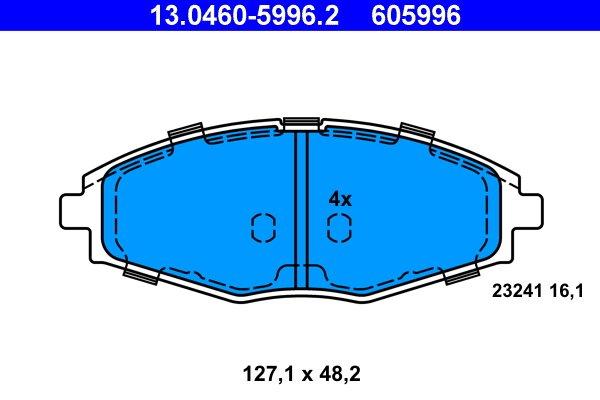 Bremsbelagsatz Scheibenbremse ATE 13.0460-8002.2