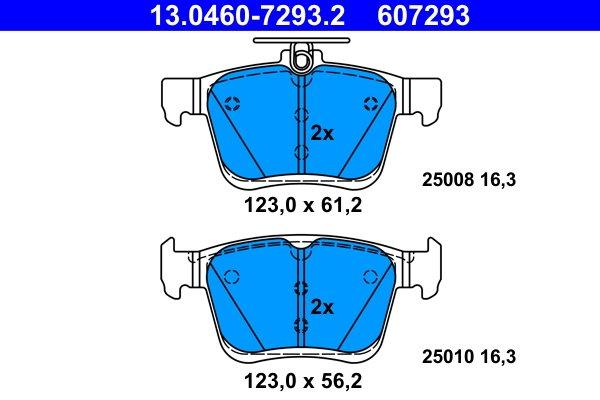 ATE 13.0460-2617.2 Bremsbelagsatz Scheibenbremse