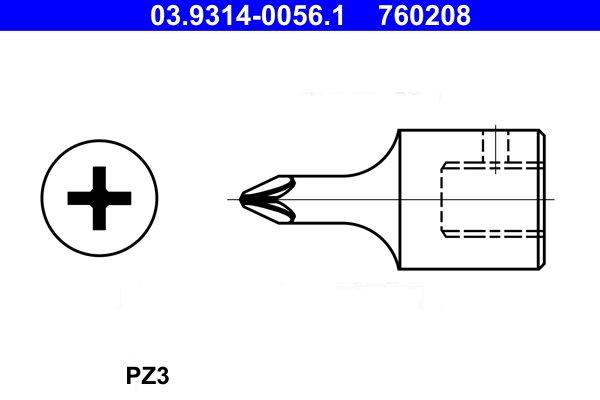 Steckschlüsseleinsatz ATE 03.9314-0056.1