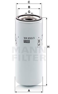 Kraftstofffilter MANN-FILTER WK 850/3